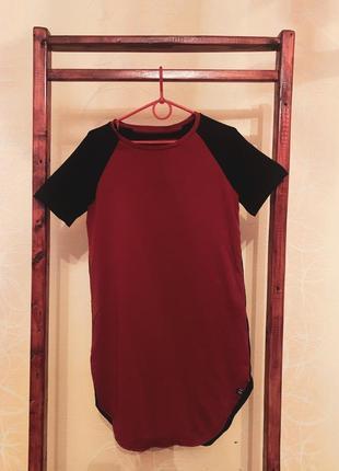 Удлиненная футболка-платье