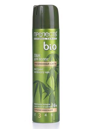 Лак для волос прелесть bio зеленый чай, 210 мл #розвантажуюсь