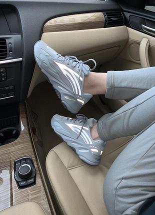 Adidas yeezy boost 700 v2 hospital blue 🔺женские  кроссовки адидас изи 700