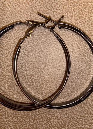 Серьги кольца с набивным рисунком
