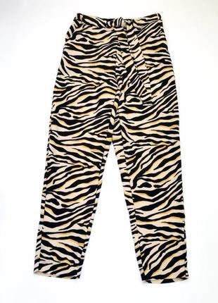 #розвантажуюсь стильные брюки штаны принт зебра f&f размер 12, 46-48