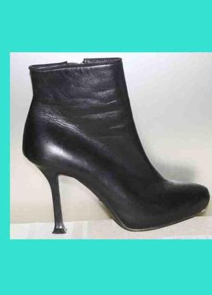 Ботинки ботильоны кожа люкс бренд donna karan, италия оригинал