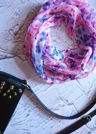 Нежный цветочный снуд платок шарф косынка