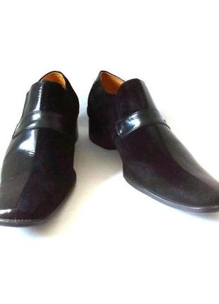 Кожаные мужские туфли от бренда munich, р.39 код n3902