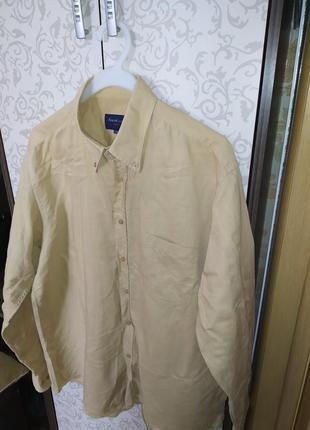 Мужская рубашка премиум качество, натуральная италия  п