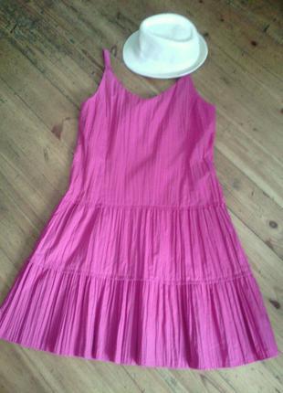 Платье сарафан с эффектом гофре