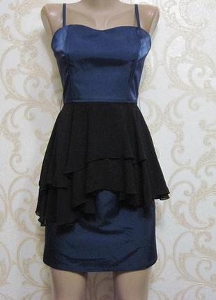 Вечернее платье с баской h&m
