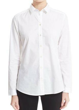 Классическая, базовая белая рубашка burberry