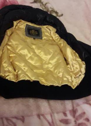 Лимонная кожаная куртка