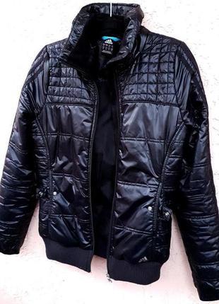 Черная спортивная куртка весна-осень р 36 (s) adidas