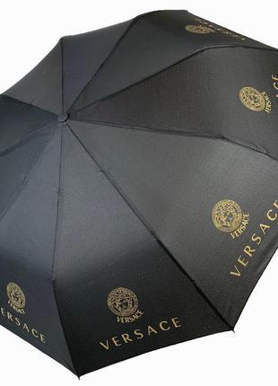 """Складной женский зонт полуавтомат с системой """"антиветер"""", """"бренды"""" от max, черный"""
