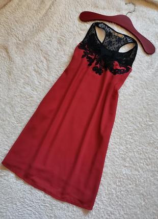 Эффектное платье лососевое трапеция свободного кроя see u soon франция 36-38 размер