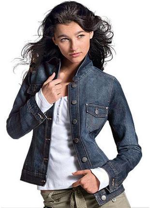 Джинсовая куртка пиджак tcm tchibo