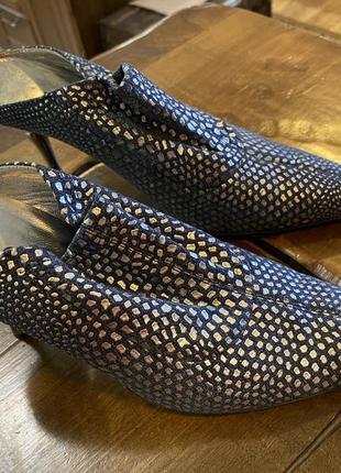 Джинсовые туфли итальянские