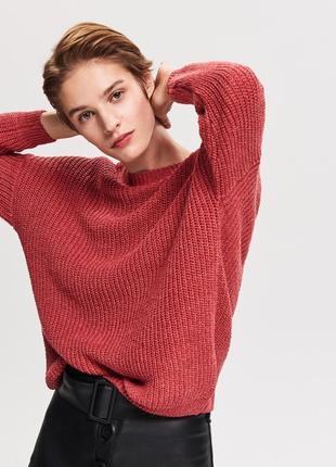 Хлопковый свитер с вырезом на спине s