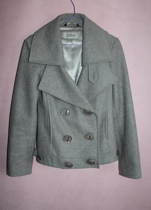Пальто пиджак женское шерсть vivalon размер 40