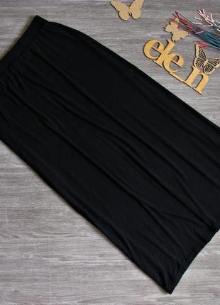 Черная юбка макси трикотаж вискоза eur 38-40