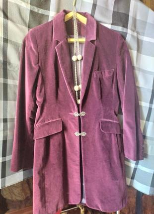 Велюровый пиджак-френч