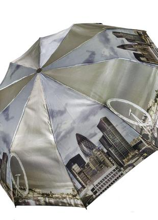 """Есть 6 расцветок! женский зонт полуавтомат """"ночной город"""" от sl, бежевый"""