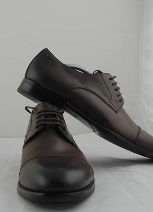 Чоловічі туфлі digel,45р, темно коричневий колір