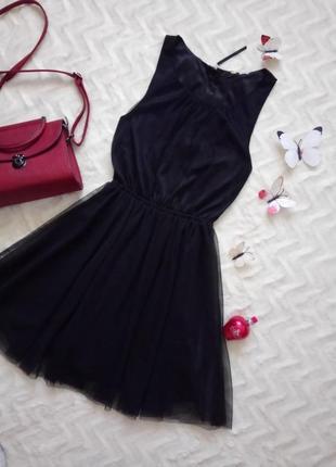 Фатинове плаття чорне літнє плаття від h&m