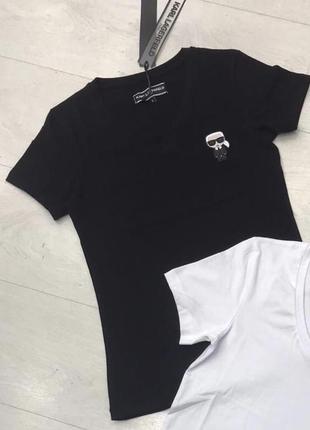Новая серная брендовая футболка karl lagerfeld