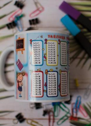 Чашка таблица умножения