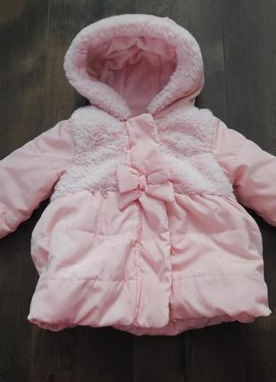Нежно-розовая красивая весенняя куртка george, 3-6 м. новая!