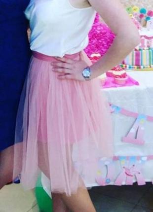 Женская пишная юбка - пачка с еврофатина с коротким подьюпником