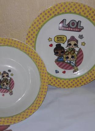 Детский набор посуды 3 в 1.