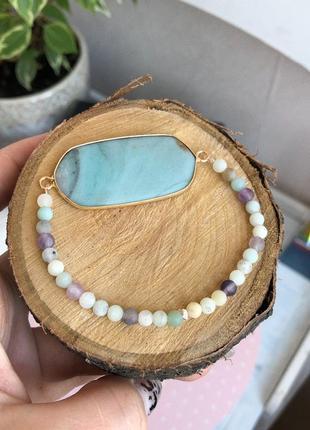 Браслет из натуральных камней (амазонит)