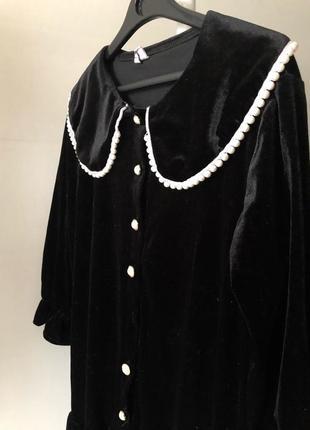 Платье винтаж, бархатное