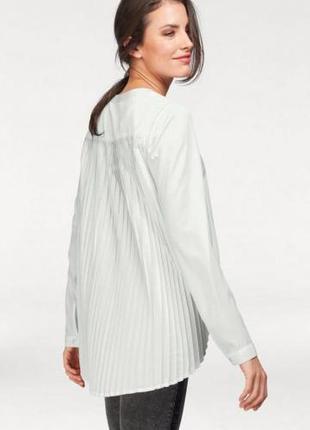 Шикарная блуза с плиссированной спинкой - m - l