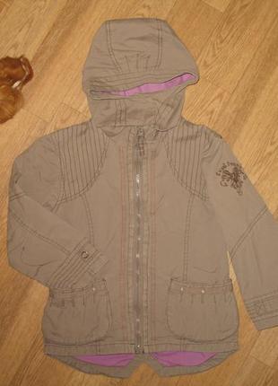 Демисезонная куртка ветровка с капюшоном