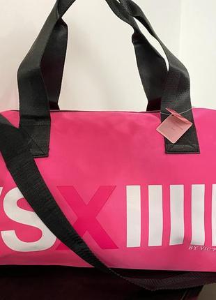 Яркая спортивная дорожняя сумка vsx victoria's secret виктория сикрет