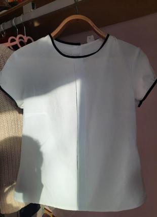 Белая блуза офисная школьная минимализм