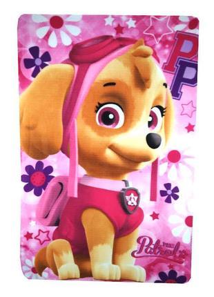 Яркий флисовый плед щенячий патруль, скай, paw patrol, disney