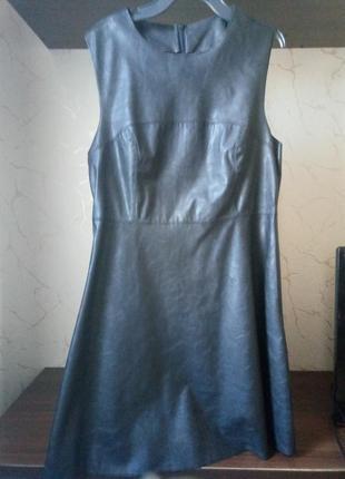 Красивое платье экокожа2 фото