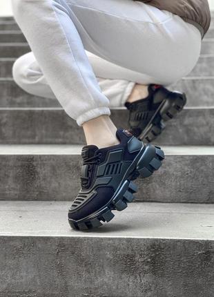 Prada cloudbust black шикарные женские кроссовки прада новая коллекция весна лето осень