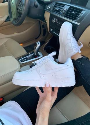 Nike air force 1 classic white ♦ женские кроссовки ♦ весна лето осень6 фото