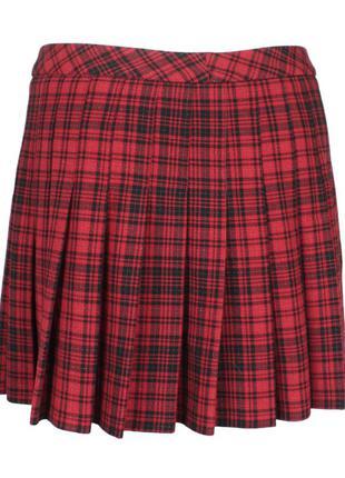 Юбка-шотландка в складку