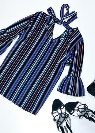 Красивая и стильная блуза в горизонтальную полоску