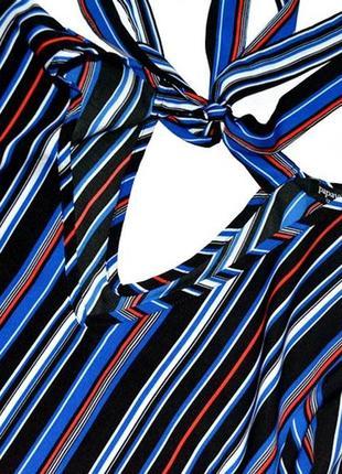 Красивая и стильная блуза в горизонтальную полоску3 фото