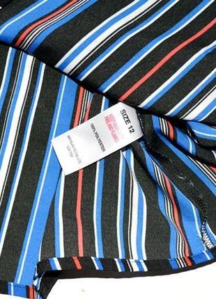 Красивая и стильная блуза в горизонтальную полоску4 фото