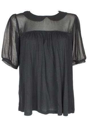 Блуза с шифоновыми вставками