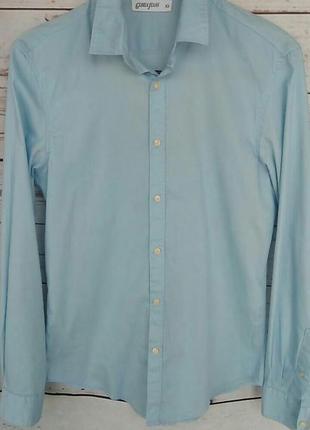 Голубая рубашка gloria jeans