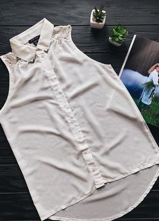 Шифоновая блузка без рукавов amisu