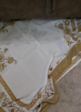 Большой платок nada беж3 фото