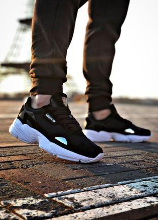 Стильные спортивные кроссовки adidas в черном цвете (весна-лето-осень)😍