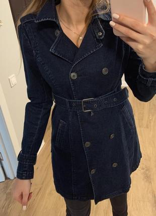 Плащ-платье джинсовое